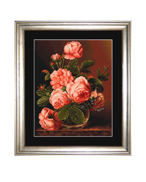 Broderikit Tavla Praktfulla rosor