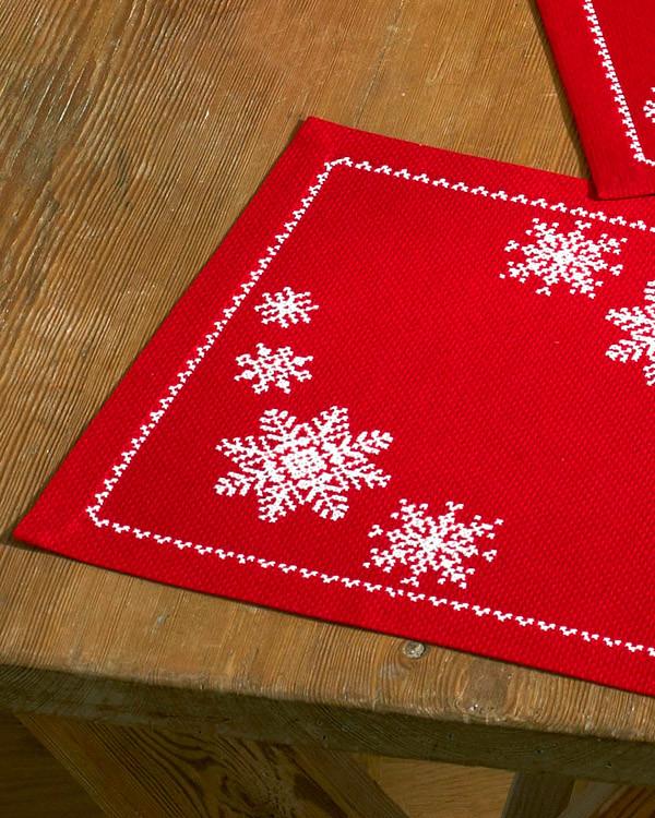 Deckchen Schneeflocken