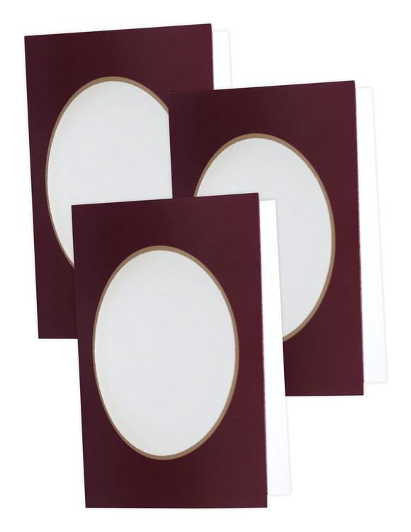 Kort vinrøde uden garn og mønster 3-pak