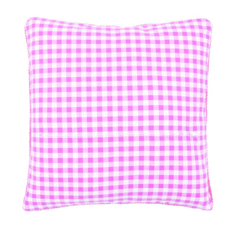 Kuddbakstycke rosa/vitt med dragkedja
