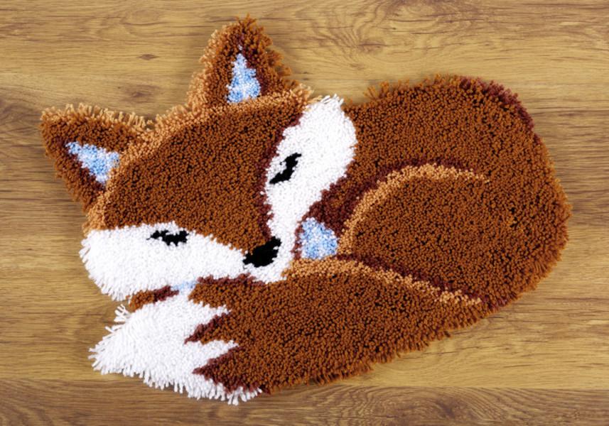 Knüpfmatte Schläfriger Fuchs