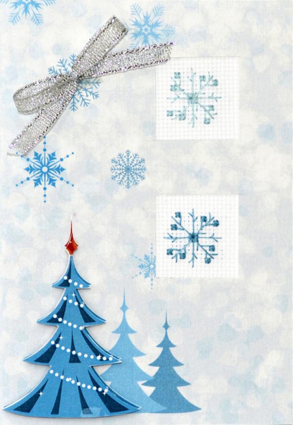 Kort Blått juletre