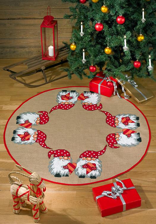 Juletræstæppe Hjertenisse