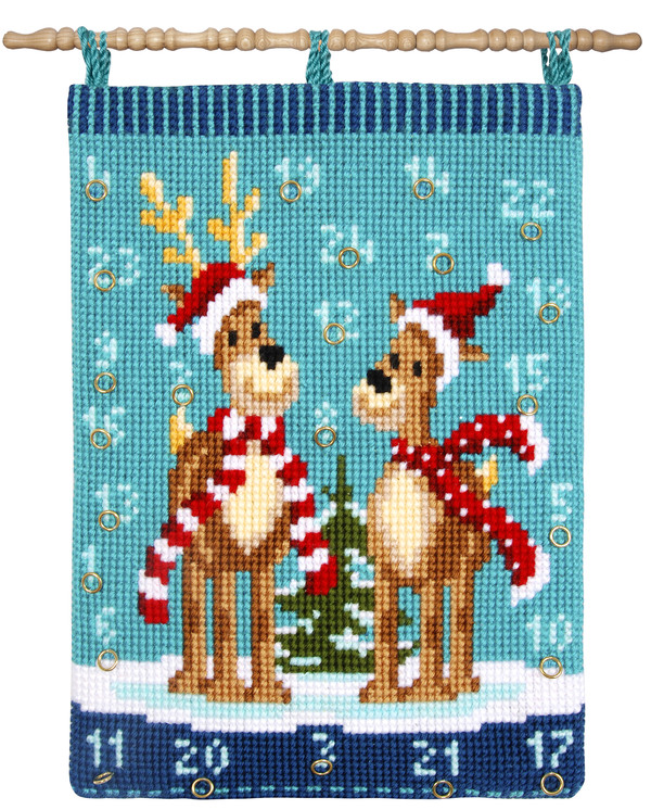 Kalender Julekledde reinsdyr
