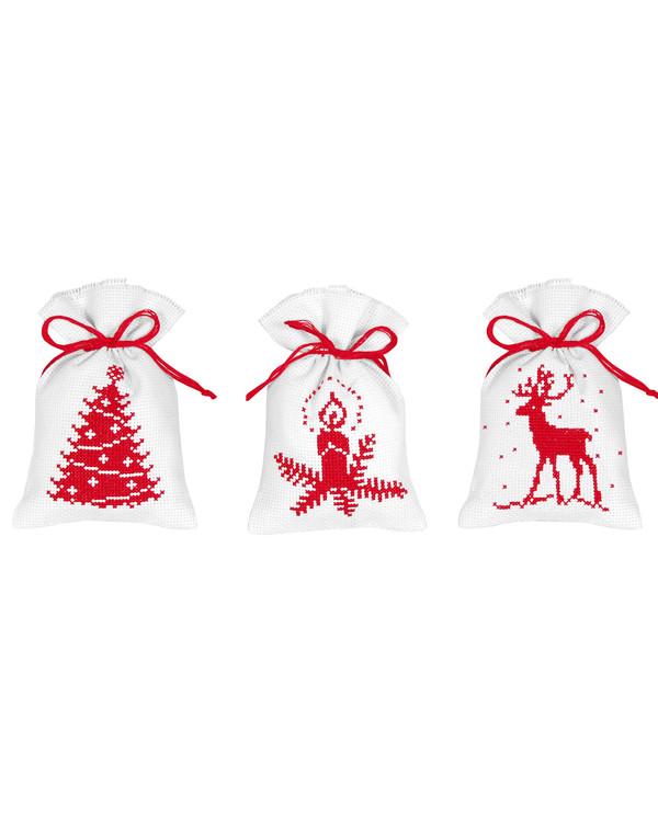 Duftposer Jul i rødt 3-pk