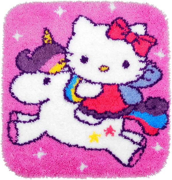 Ryematte Hello Kitty på enhjørning
