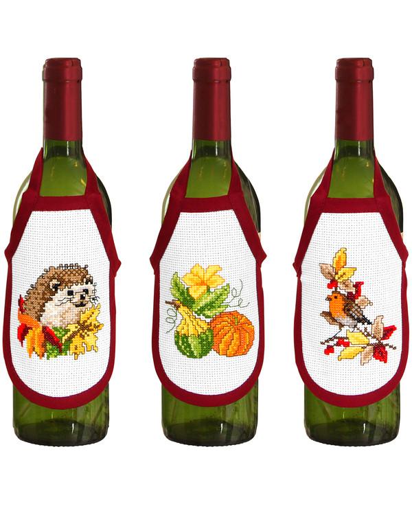 Flaskförkläden Höstens färger 3-pack