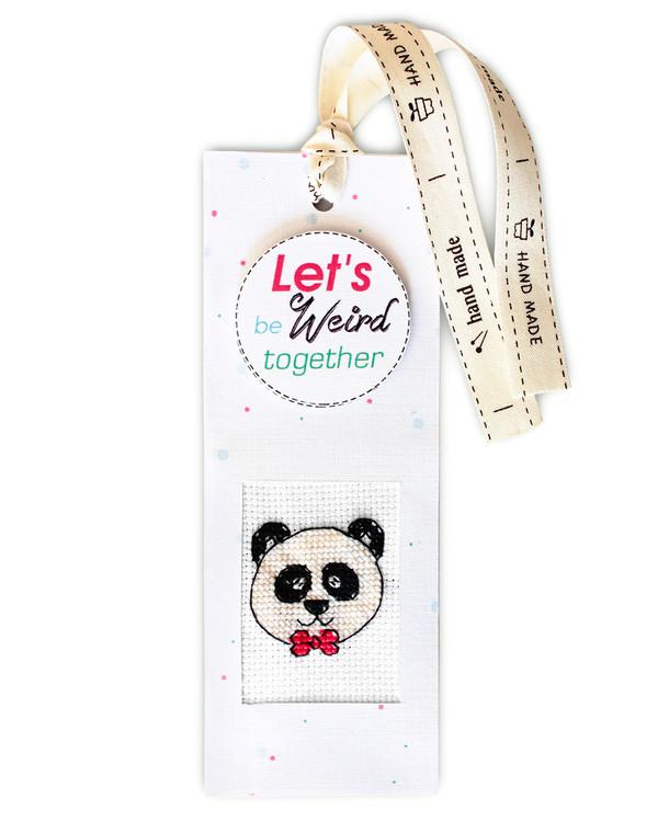 Kirjanmerkki Tyylikäs panda