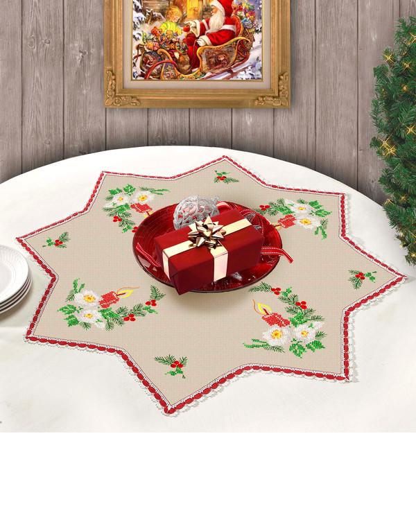Duk Stjerne julelys med eller uten garn