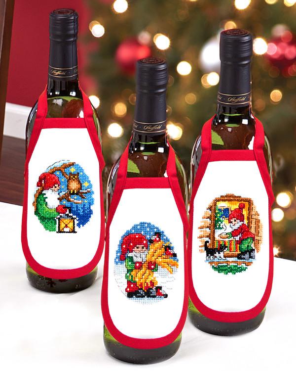 Flaskeforklæder Juleaften 3-pak