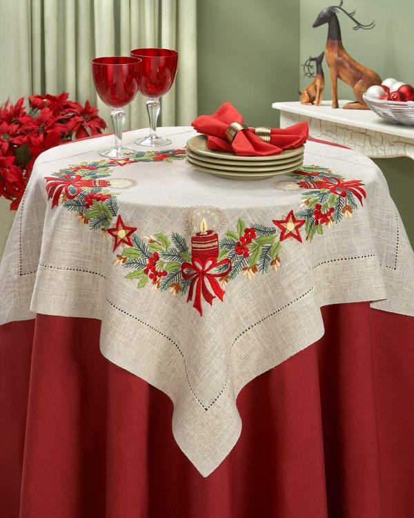 Broderipakke Duk Rødt julelys
