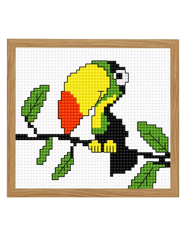 Billede Farverig tukan