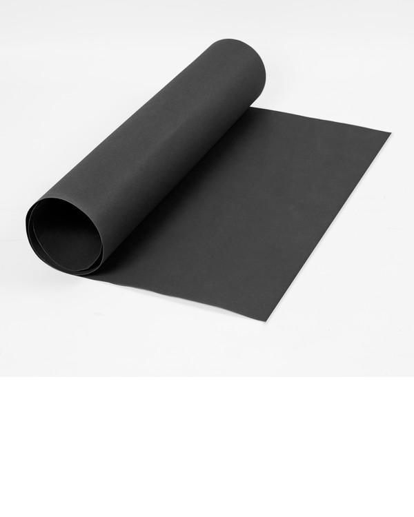 Läderpapper svart utan garn och mönster