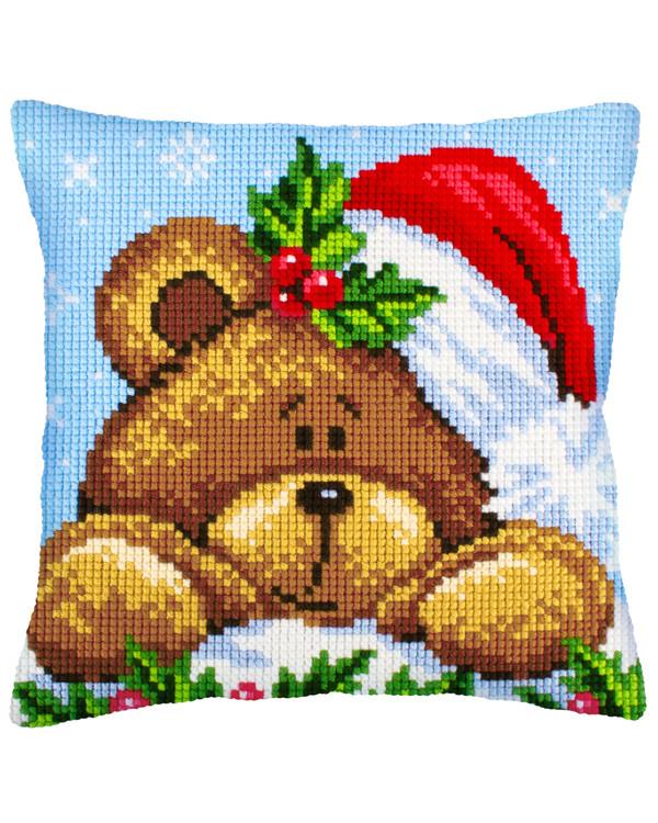 Tyynynpäällinen Joulukarhu