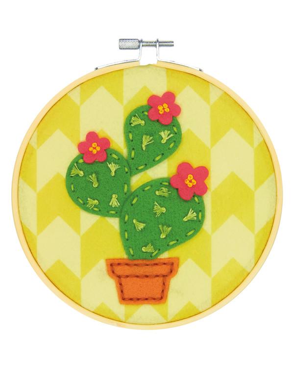 Filtbroderi Kaktus