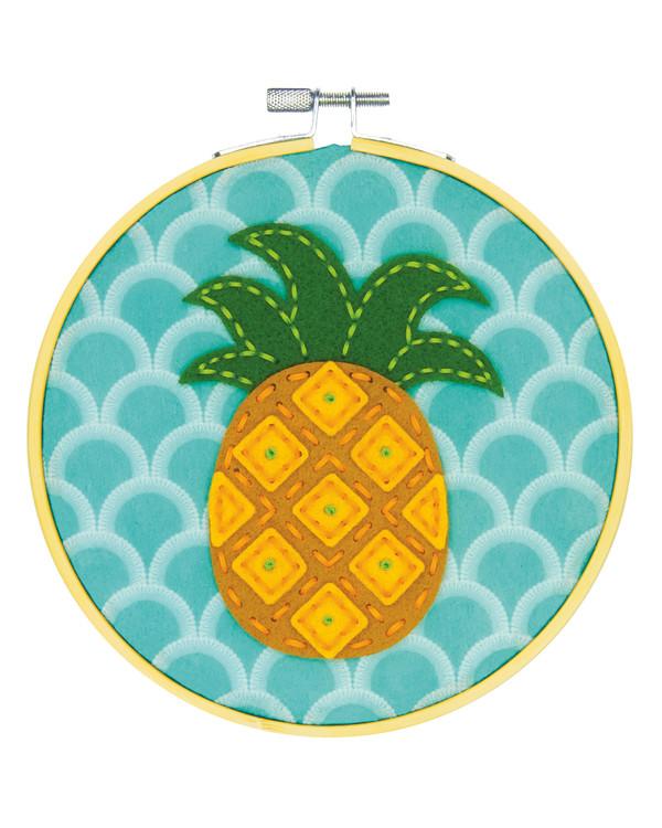 Filtbroderi Ananas