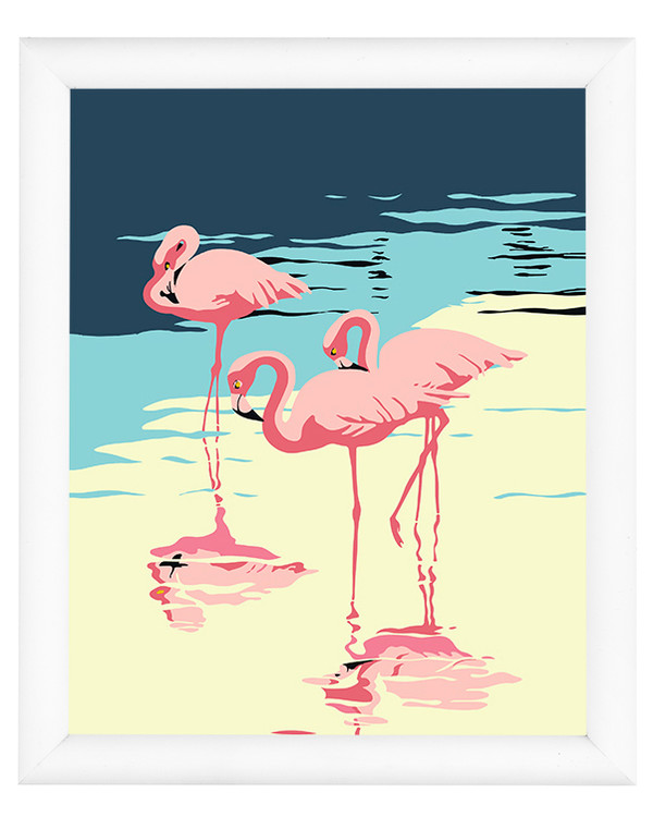 Paint by numbers Flamingos