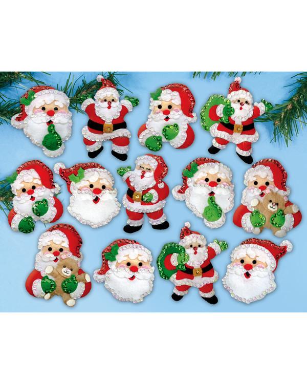 Filzstickereii Weihnachtsmänner