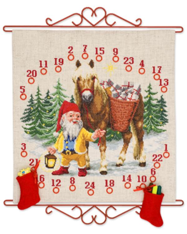 Kalenteri Tonttu ja hevonen