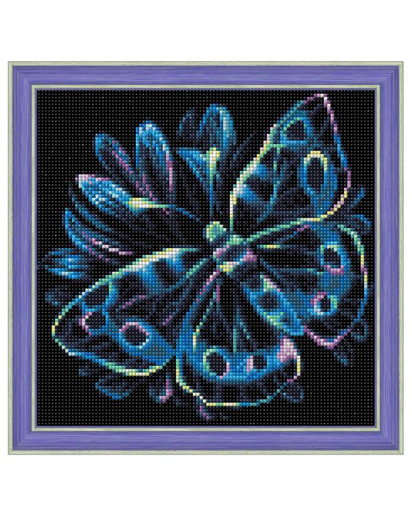 Diamond painting Lysande fjäril