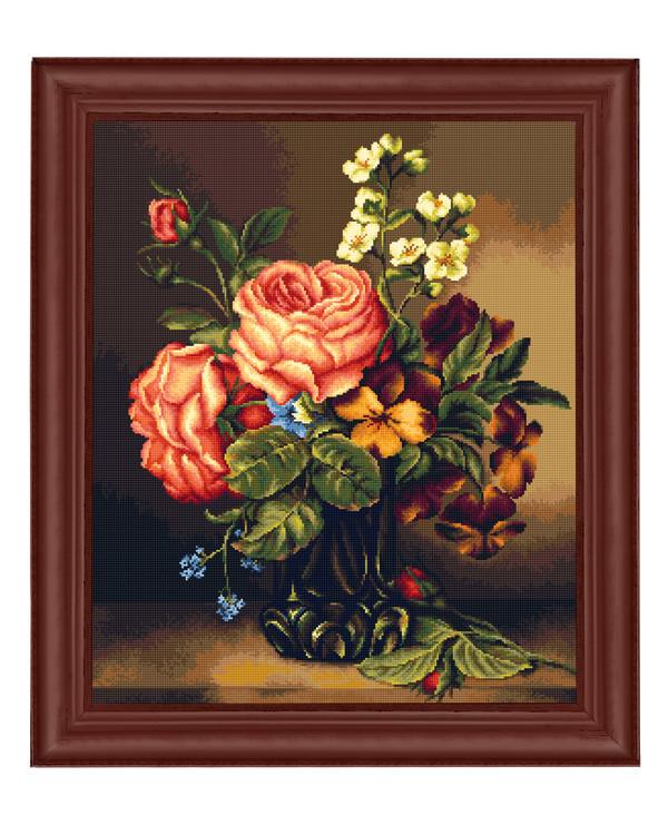 Broderipakke Bilde Vase med blomster