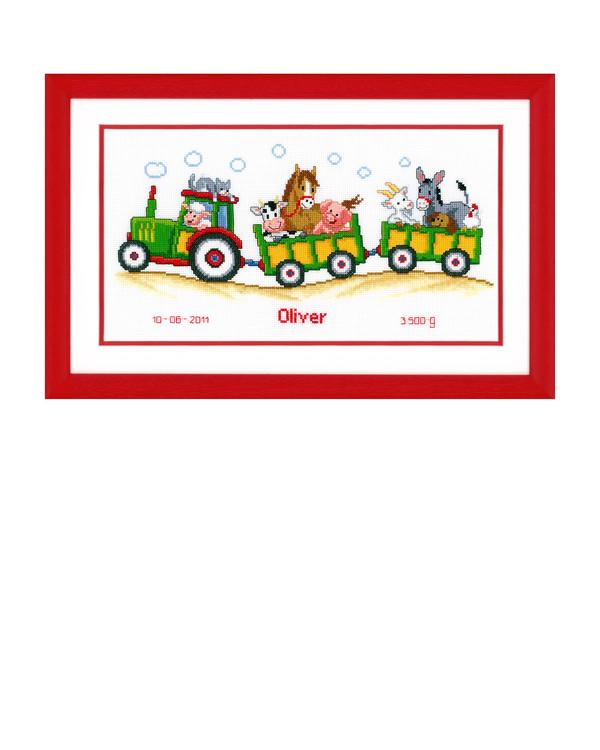 Billede Traktor med dyr
