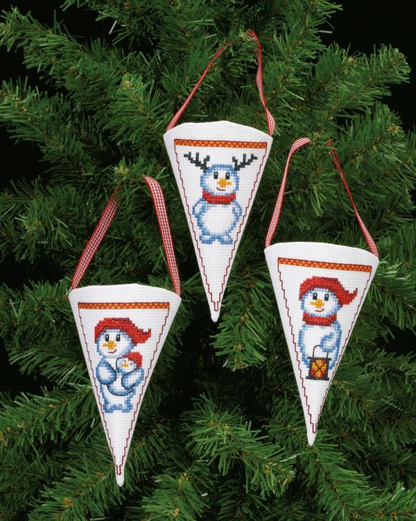 Tütchen Schneemänner 3-er Pack