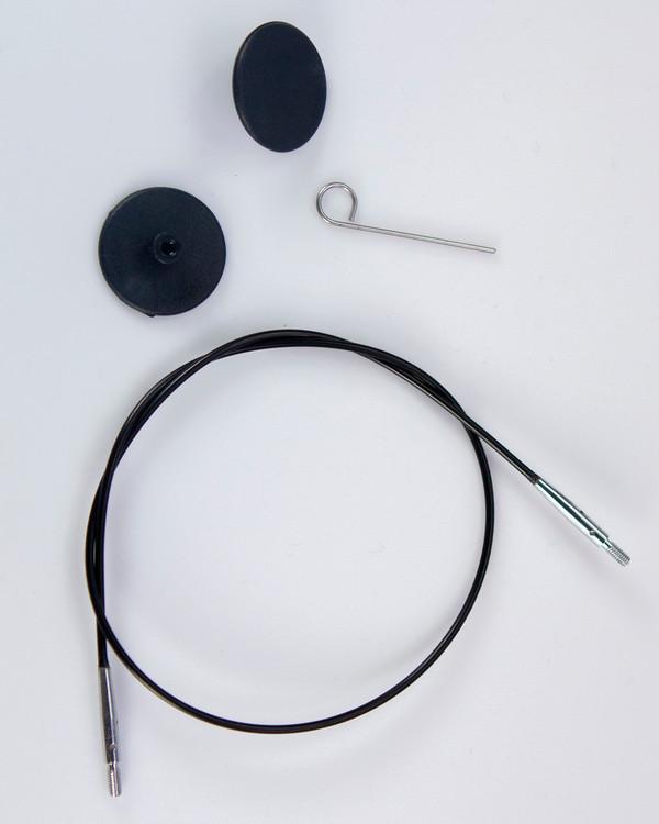 Kabel svart rundpinne