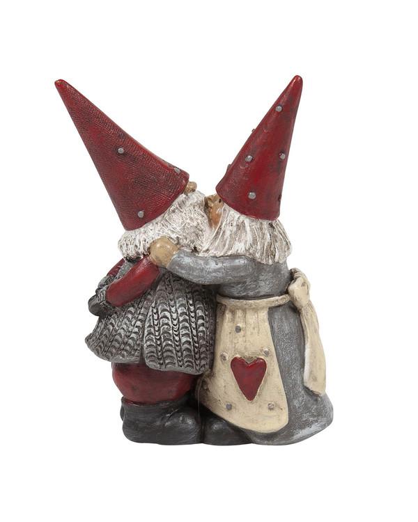 Juldekoration Tomten Håkan och Stina kyssen