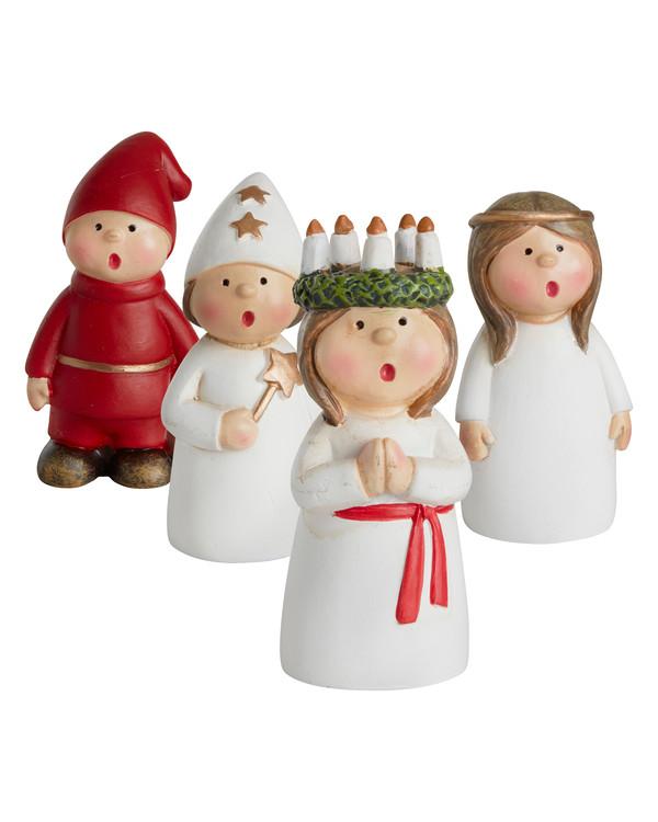 Juldekoration Luciatåg 4-pack