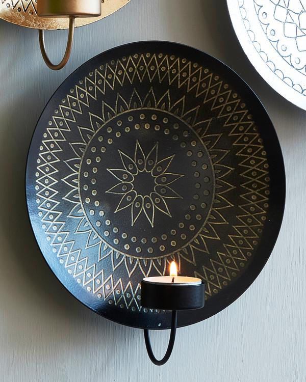 Kynttilälampetti musta