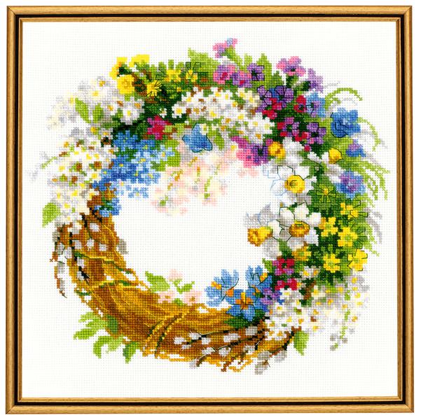 Bilde Krans med sommerblomster